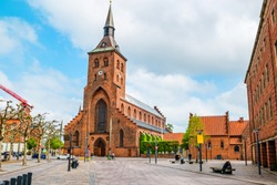 St. Canute's Cathedral in the center of Odense, Denmark.