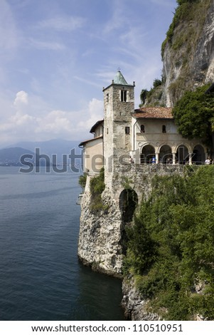 """St. Catherine monastery (S.Caterina del sasso) - """"Verbano (maggiore)"""" lake - Italy"""