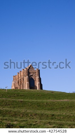 St Catherine's Chapel Abbotsbury, Dorset, UK set on a hill outside the village