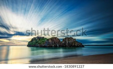 st Catherine's Island Tenby Pembrokeshire South Wales Zdjęcia stock ©