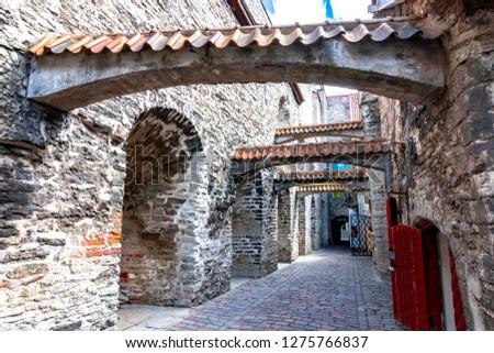 St. Catherine's Passage in Tallinn Old town, Estonia