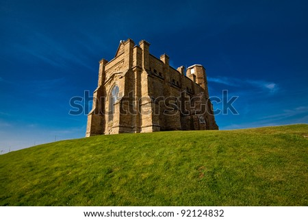 St Catherine's - the chapel on the hill at Abbotsbury, a well known landmark once used by ships to aid navigation
