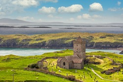 St Clements Church near Roghadal south of Leverburgh, Isle of Harris, Outer Hebrides, Scotland