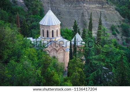 St. David church in Tbilisi's Pantheon  is one of the most famous place to visit in georgian capital #1136417204