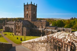 St Davids Cathedral in Wales, Greatbritain