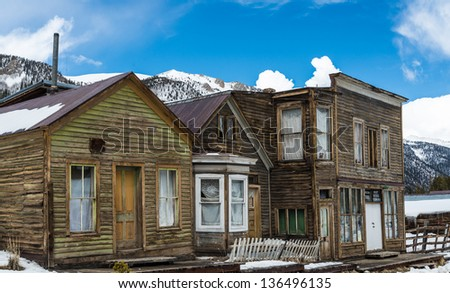 St. Elmo ghost town in the Colorado Rocky Mountains