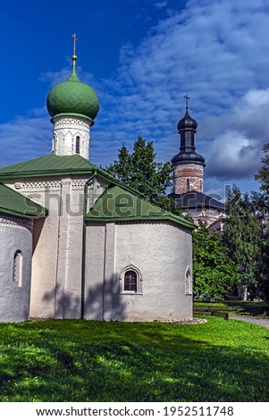 St. Epiphanius of Ciprus church, year of construction - 1645. Kirillo-Belozersky monastery, city of Kirillov, Russia  Stock fotó ©