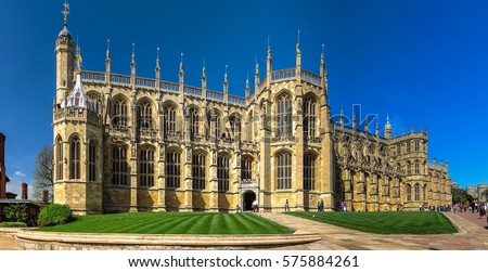 st. George's Chapel at Windsor Castle, England