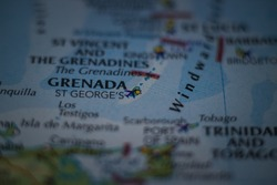 St. George's, the capital city of the Grenada on a geographical map