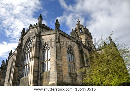 St Giles' Cathedral on Royal Mile in Edinburgh, Scotland