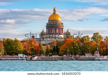 St. Isaac's Cathedral in autumn, Saint Petersburg, Russia Photo stock ©