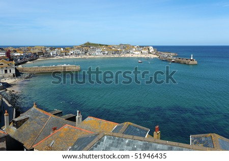St. Ives harbour in Cornwall UK.