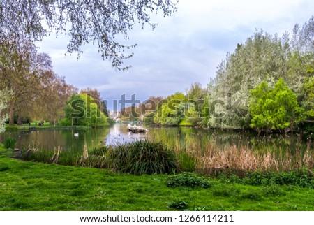 St James Park in London, UK. #1266414211