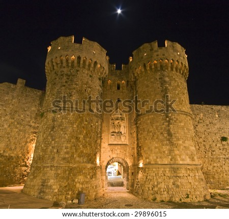 st John  knights castle at Rhodes island, Greece