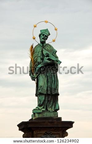 St. John of Nepomuk (Ian Nepomuk) on Charles bridge, Prague, Czech republic