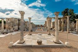 St. John's Basilica ruins view in Selcuk Town of Turkey