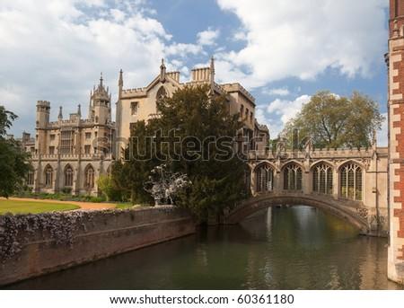 St John's College. Bridge of Sighs. Cambridge. UK.