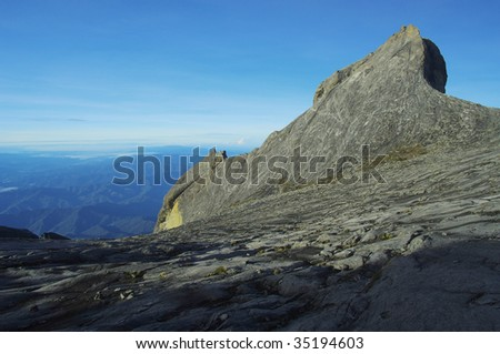 St. John's peak at Mount Kinabalu. Sabah, Borneo, Malaysia