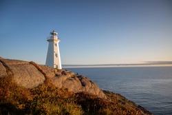 St Johns Lighthouse Newfoundland at sunrise