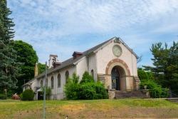 St Joseph's Parish at Pulaski Street in Historic city of Peabody, Massachusetts MA, USA.