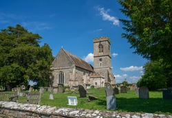 St Laurence's Church, Longney, Gloucestershire, England. Built in 13th century, tower is 14th century.