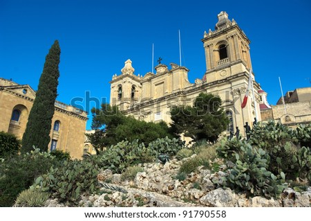 St. Lawrence Cathedral in Vittoriosa (Birgu) a very old locality on the south side of the Grand Harbour in Malta