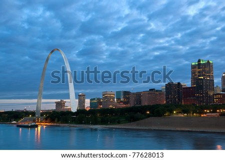 St. Louis at blue hour.