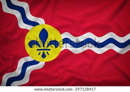 st. louis missouri flag on the...