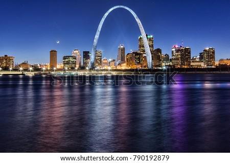 St. Louis Night Skyline