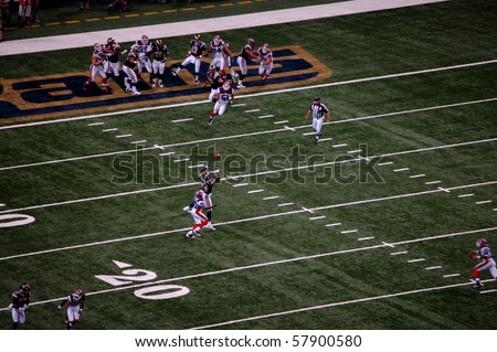 ST. LOUIS - SEPTEMBER 28: Randy McMichael of the Rams makes a catch over Donte Whitner of the Bills in a game at Edward Jones Dome September 28, 2008 in St. Louis, MO
