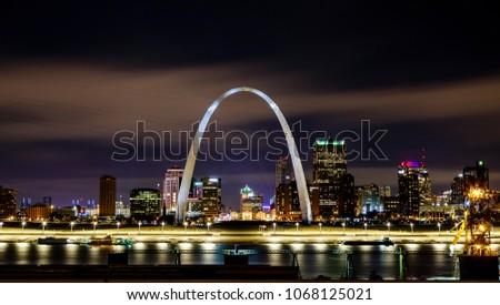 St Louis Skyline at Night