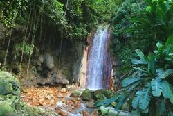 st. lucia botanical gardens, diamond waterfall, caribbean