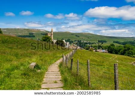 St Margaret's Church, Hawes, Wensleydale, North Yorkshire Stock photo ©