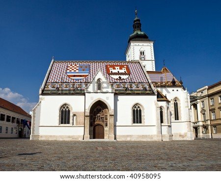 St. Mark's Church at St. Mark's Square, Zagreb, Croatia