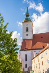 St Martin's Cathedral church in Bratislava situated on the western border of the historic city center, below Bratislava Castle. Main catholic church popular for tourists and weddings