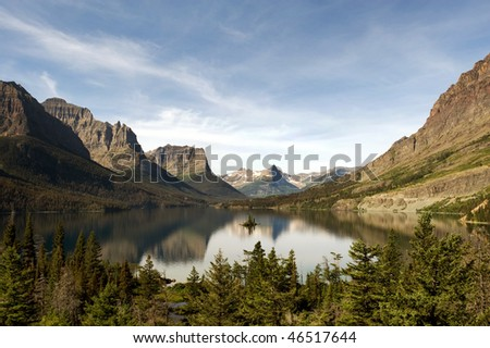 St Mary Lake with Wild Goose Island in Glacier National park