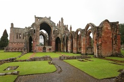 St Mary's Abbey, Melrose is a ruined monastery of the Cistercian order in Melrose, Roxburghshire, in the Scottish Borders and the burial location of Robert the Bruce's heart in Scotland, UK.