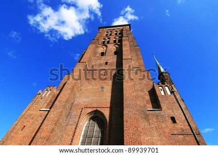 St. Mary's Basilica, largest brick church in the world, Gdansk, Poland