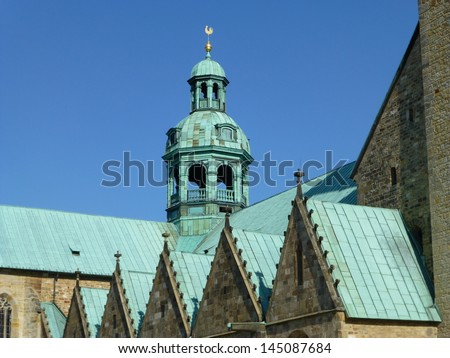 St. Mary\'s Cathedral (German: Dom St. Maria) is a medieval Catholic cathedral in Hildesheim, Germany, that has been on the UNESCO World Cultural Heritage list since 1985.