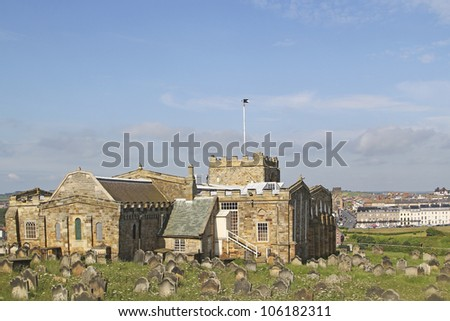 St Mary's Church and gravestones, Whitby
