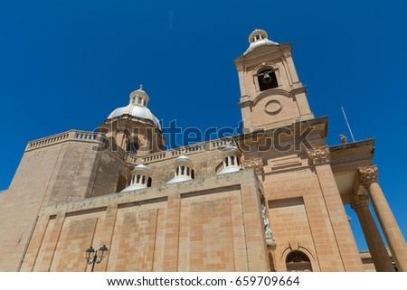 St. Mary's Parish Church, Roman Catholic Parish Church at the center of the town of Ghar Bittija, Dingli, May 2017 #659709664