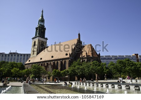 St. Marys Church known in German as the Marienkirche is a church in Berlin Germany