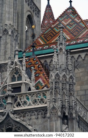 St. Matthias church in Budapest, Hungary. Saint Matthias cathedral.