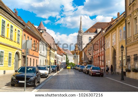 St. Matthias Church in Budapest in Hungary in a beautiful summer day #1026307216