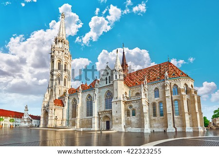 St. Matthias Church in Budapest. One of the main temple in Hungary. #422323255