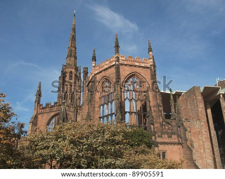 St Michael Cathedral church, Coventry, England, UK