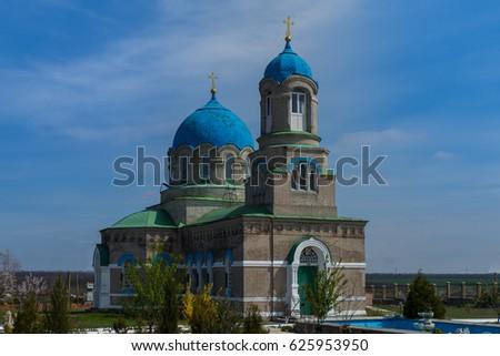 St. Michael's monastery in Verkhnii Tokmak Chernihiv district of Zaporozhye region Stok fotoğraf ©