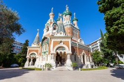 St Nicholas Orthodox Cathedral in Nice city, Cote d'Azur region in France
