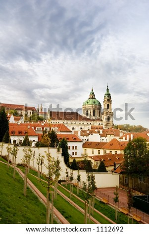 St. Nicolaus Church in the old town of Prague, Czech