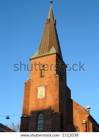 St. Olavs church in Oslo - stock photo